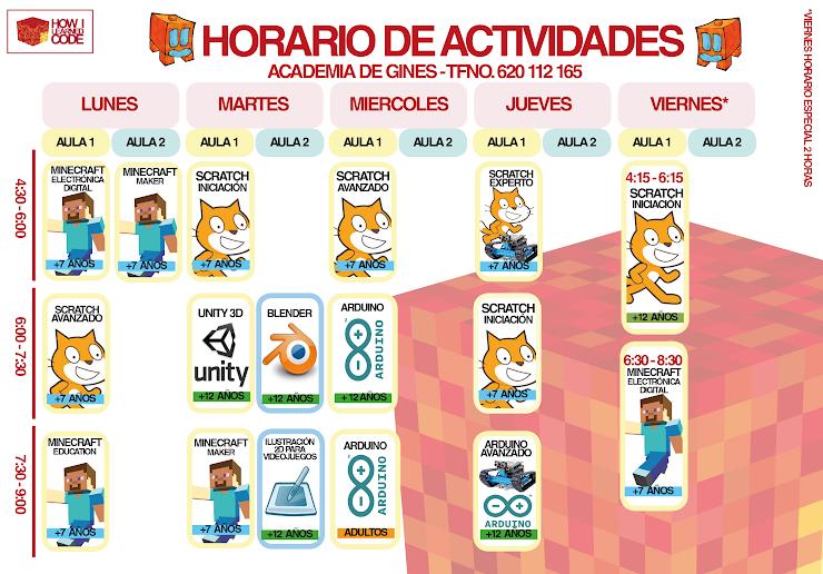 HORARIO ACADEMIA DE GINES
