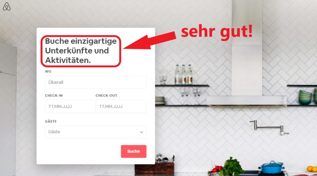 Airbnb macht gute Conversion Optimierung