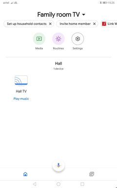 Open the Google Home app on your android phone or tablet