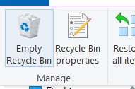 Emptying the Recycle Bin on your computer