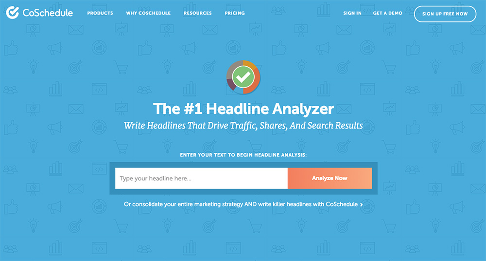 CoSchedule headline analyzer tool.