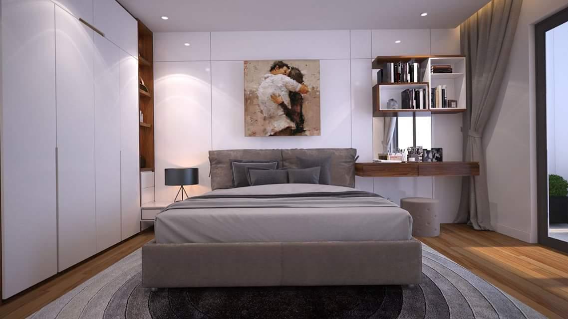 Thiết kế phòng ngủ đẹp với tone màu sáng làm chủ đạo