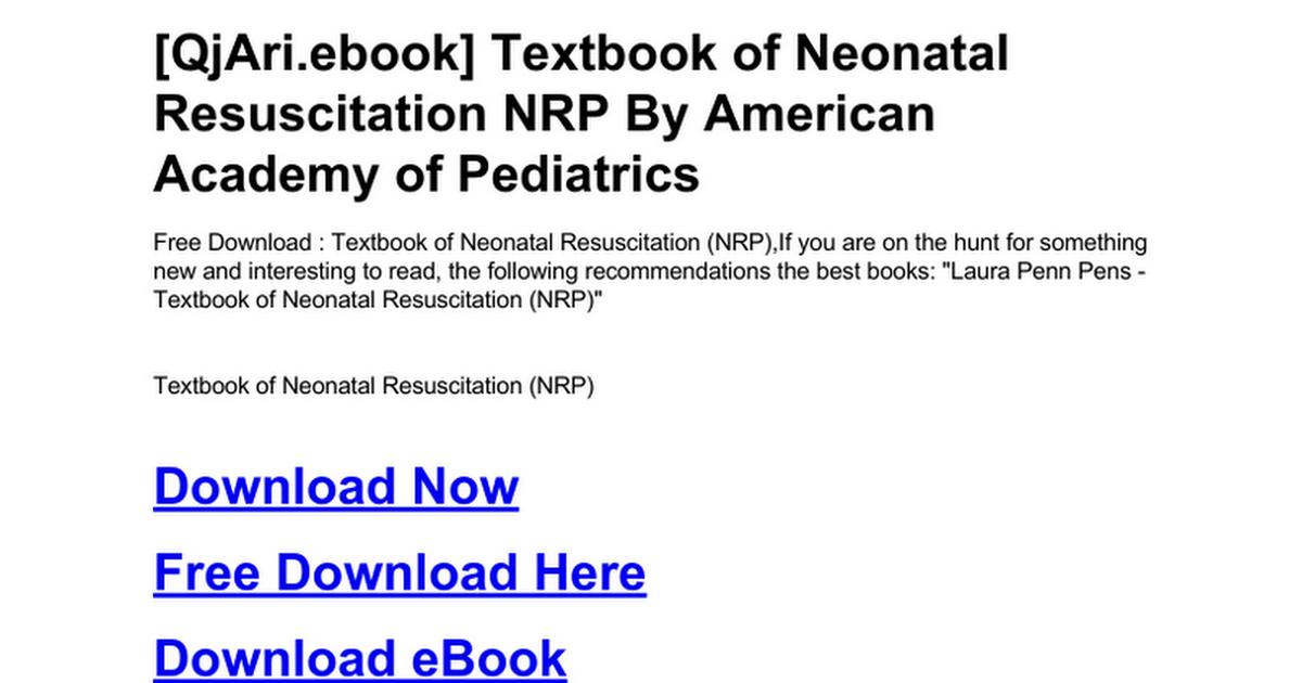 Textbook of neonatal resuscitation nrpc google docs fandeluxe Images
