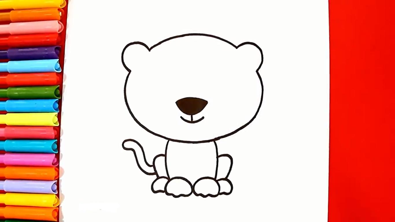 como dibujar un tigre kawaii