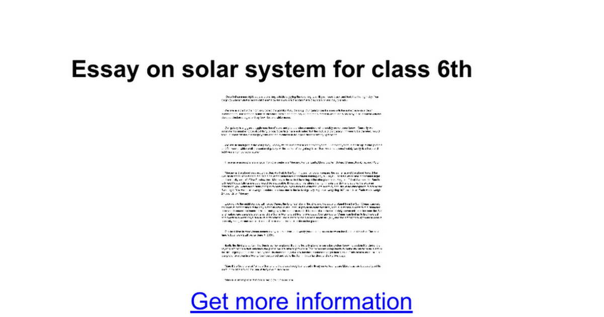 essay on solar system for class th google docs
