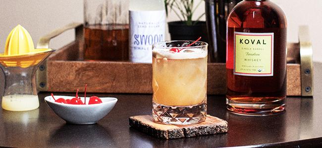 Vegan Whiskey Sour ft. KOVAL Bourbon Whiskey