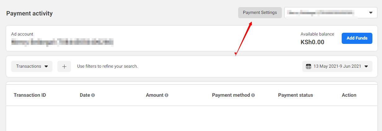 adding payment method to facebook in kenya