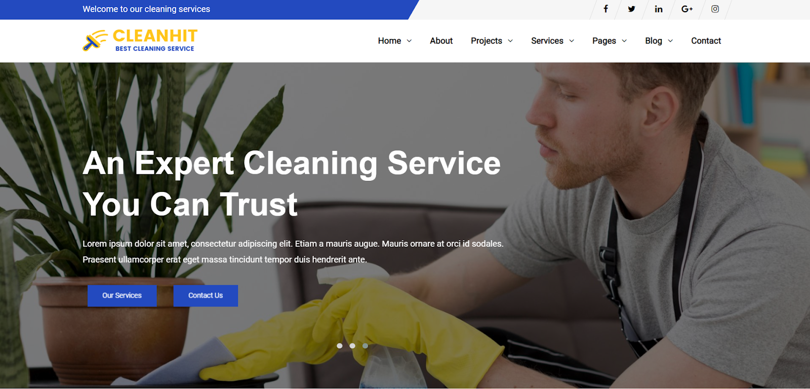 WordPress themes - Cleanhit loading speed