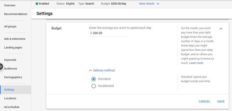 Quảng cáo Google tăng tốc phân phối