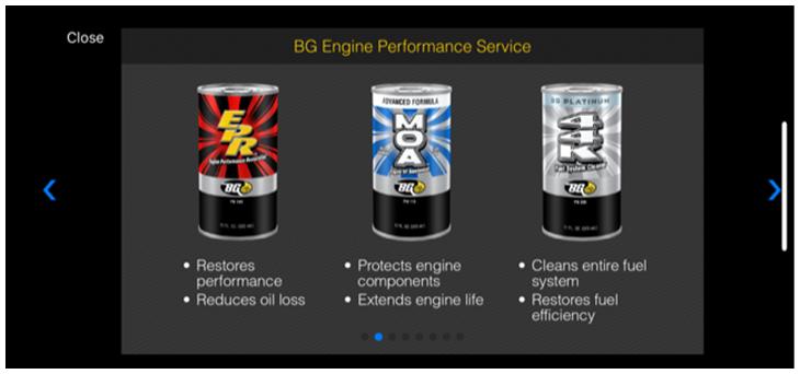 advisor app with the BG Engine Performance Service