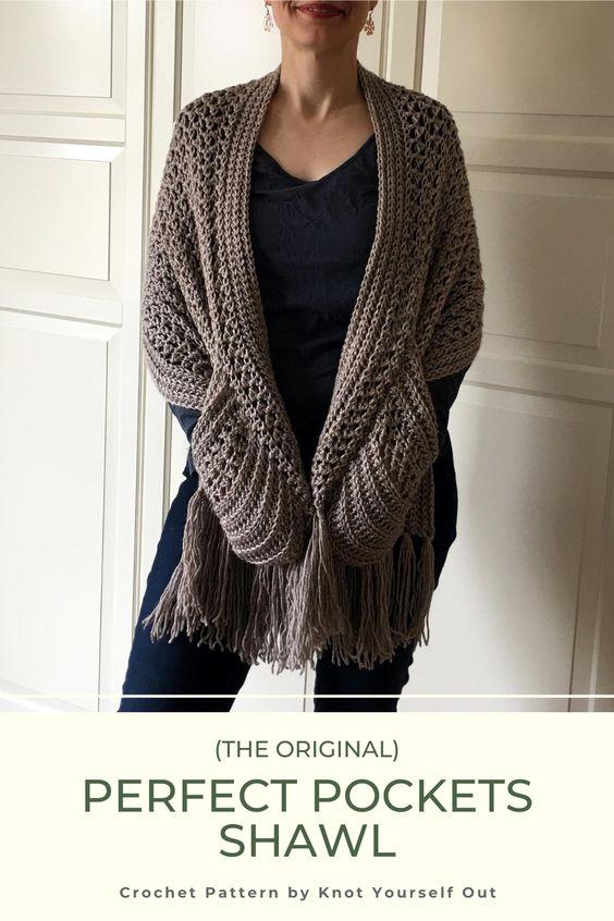 crochet Christmas gift idea - shawl