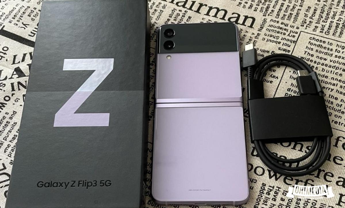 Samsung Galaxy Z Flip3 unboxing (dalam box)