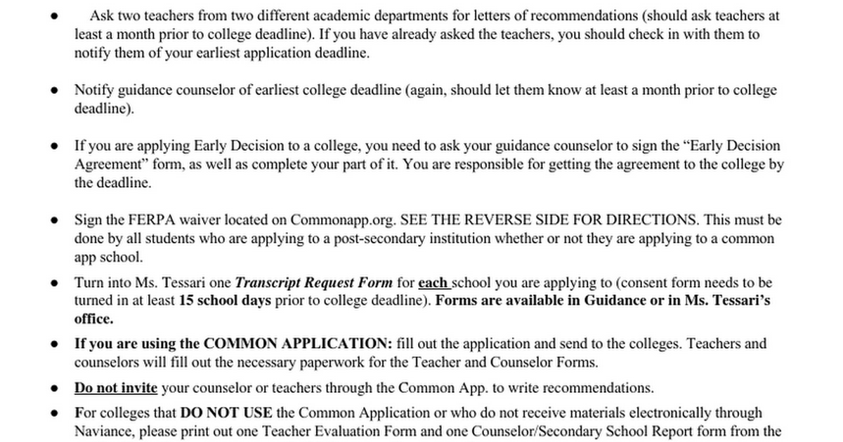 Collegeappprocessc Google Docs