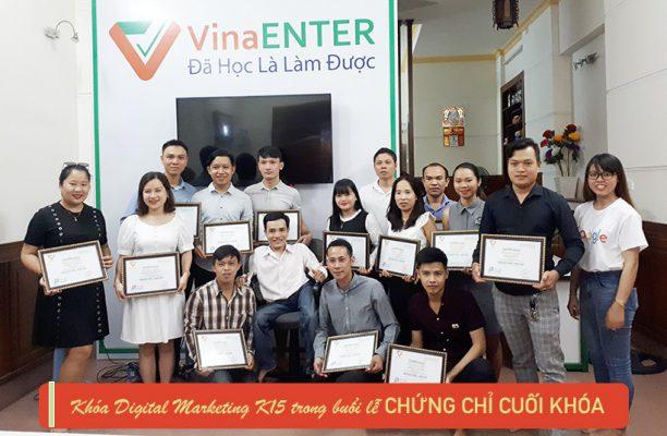 Lễ trao chứng chỉ cuối khóa K15 - Digital Marketing 4.0 tại Vinaenter Academy