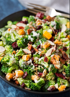 Living Juice Organic Cranberry Almond Broccoli Salad