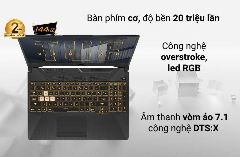 Laptop ASUS TUF Gaming FX506HC-HN002T 90NR0723-M01410 | Bàn phím cơ siêu chất