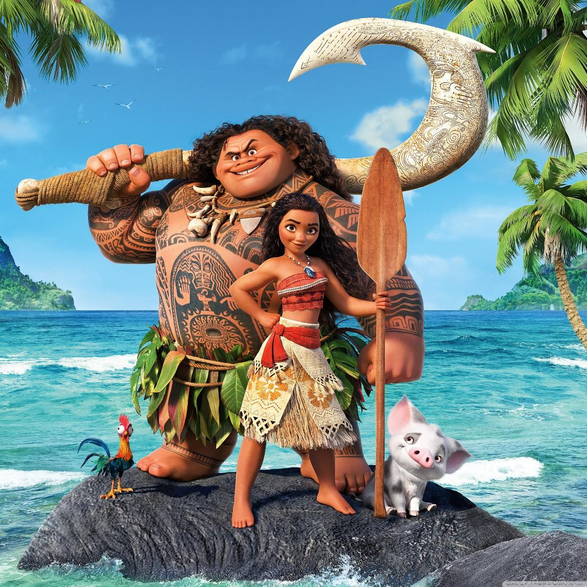 Moana and her trusted friends