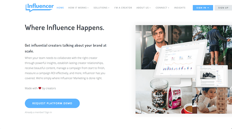 Influencer - For Brands Looking for Influencers