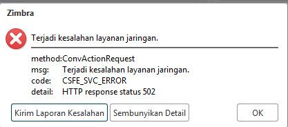CSFE_SVC_ERROR HTTP response status 502