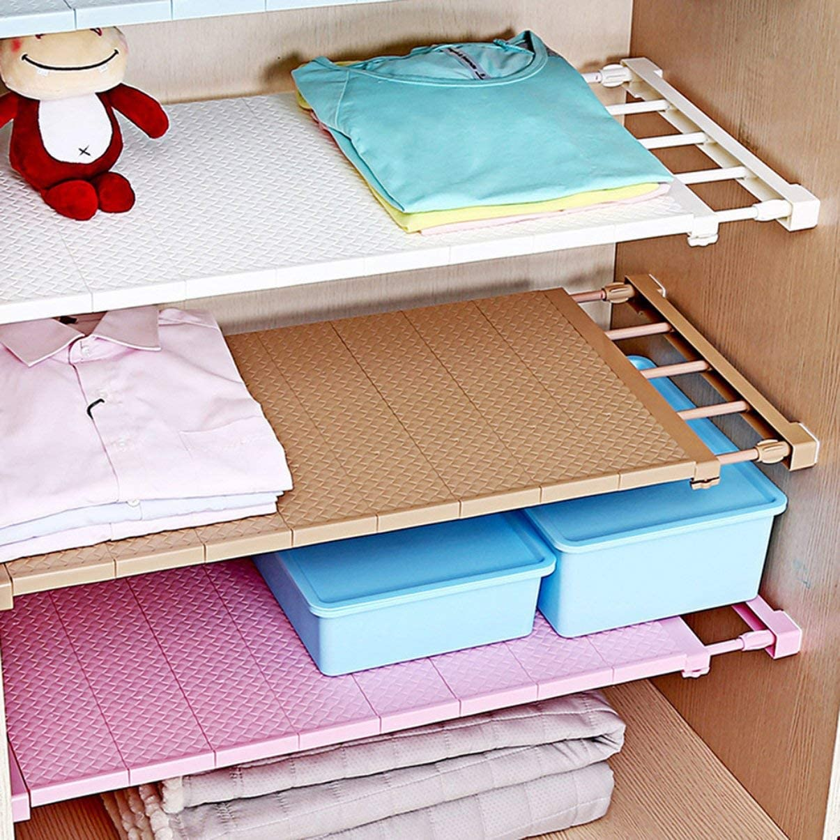 1PC Adjustable Wall Mounted Closet Organizer