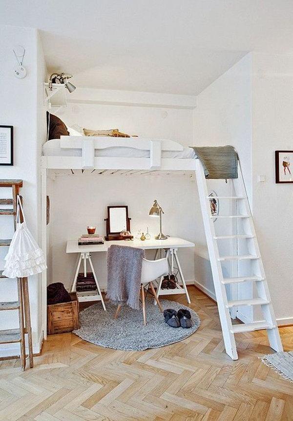 Working Area Under Loft Bed