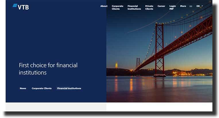 VTB website design showcases