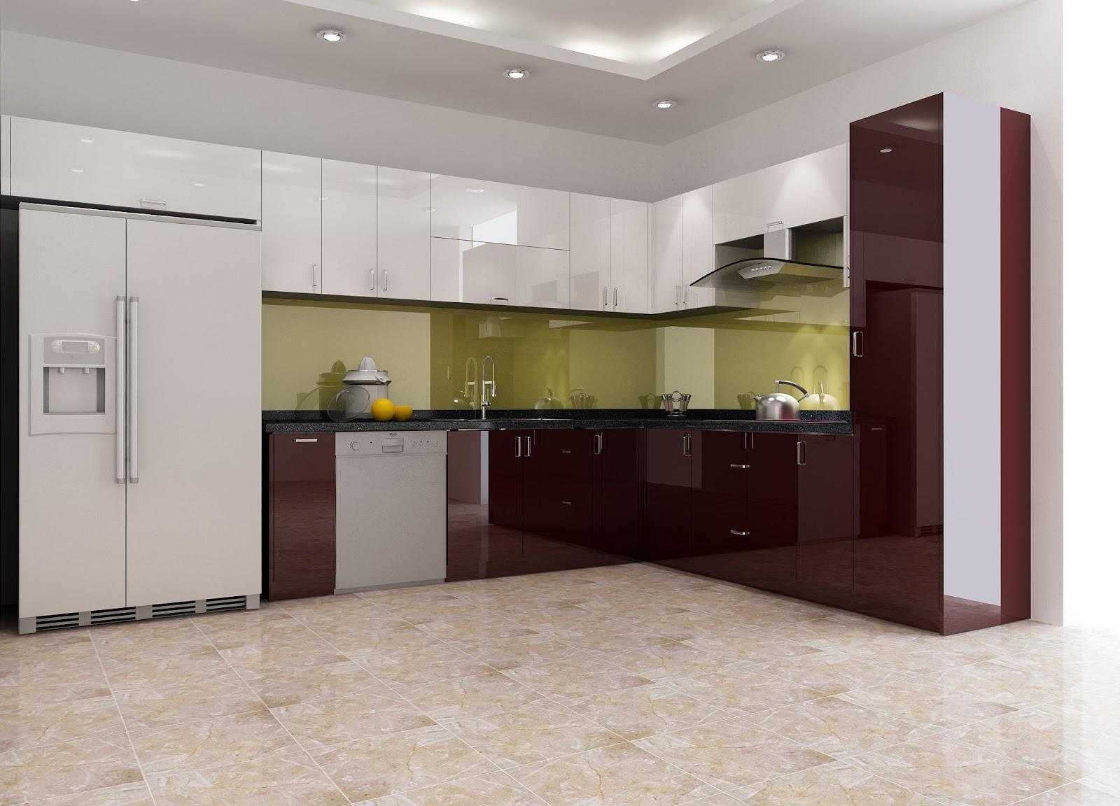 Tủ bếp inox acrylic mang đến phong cách riêng cho khu bếp