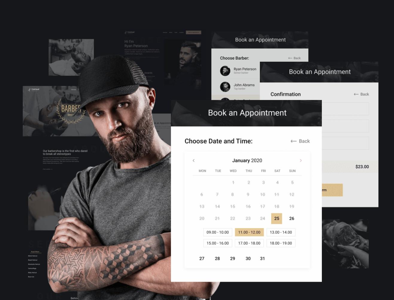 Barbershop template WordPress