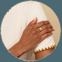 bague fiancaille or jaune 18k pour femme