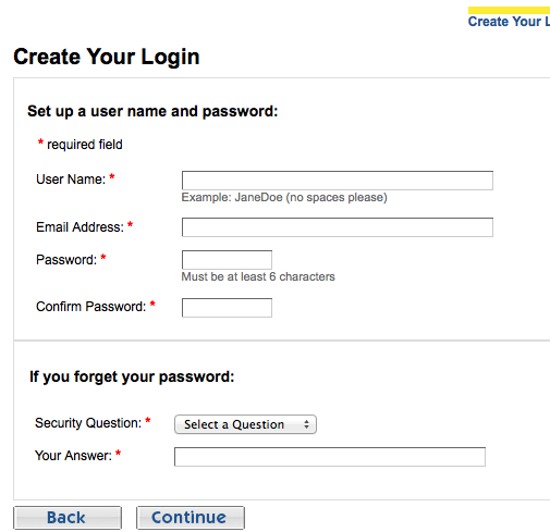 kudzu create login details