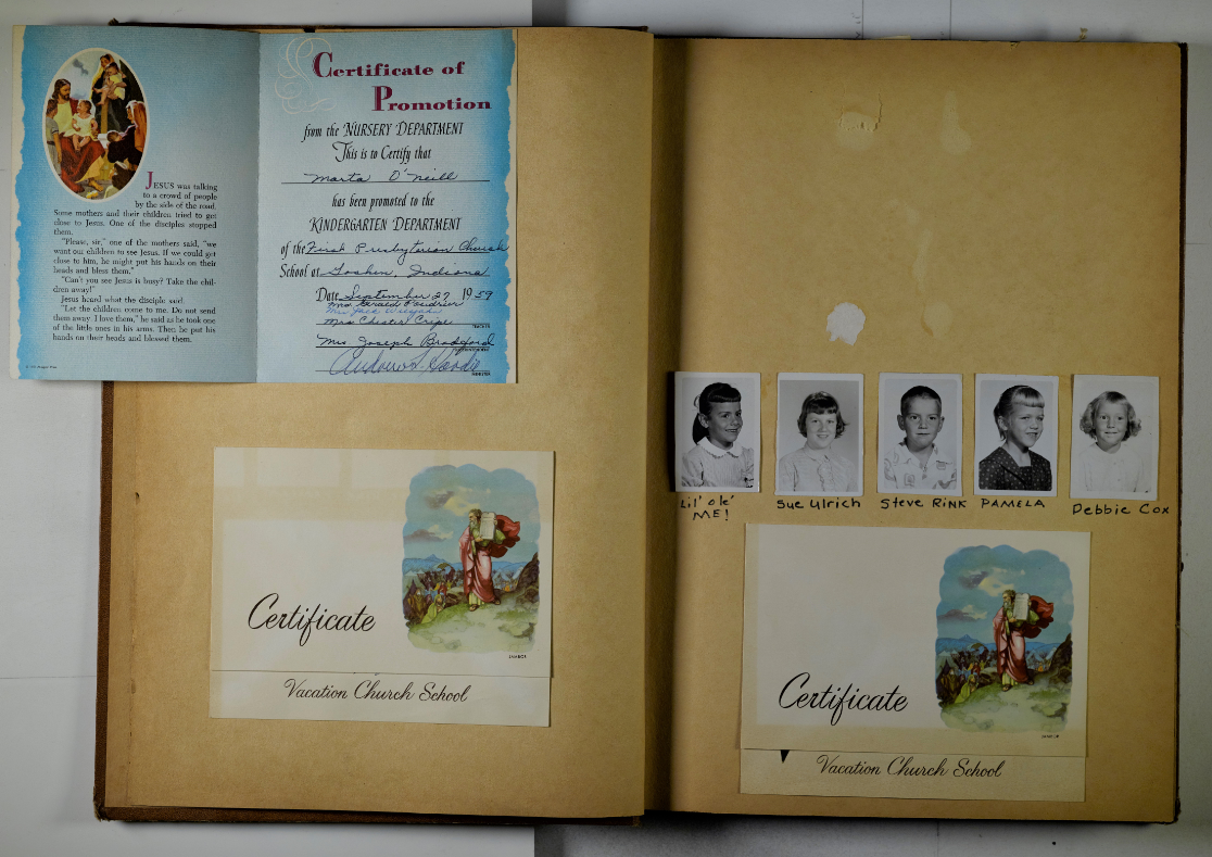 Example of a personal photo album