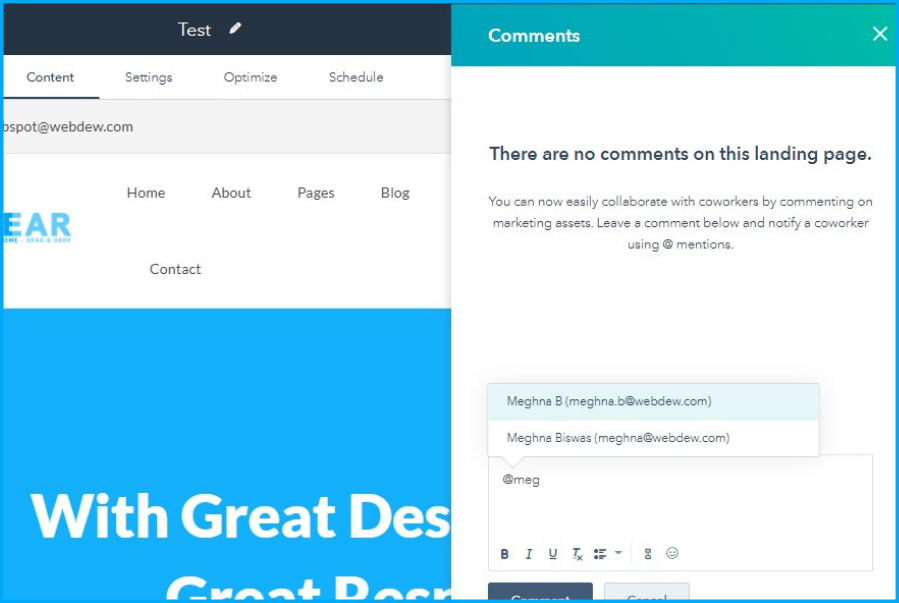 Collaboration Sidebar in Website/Landing Pages and Blog