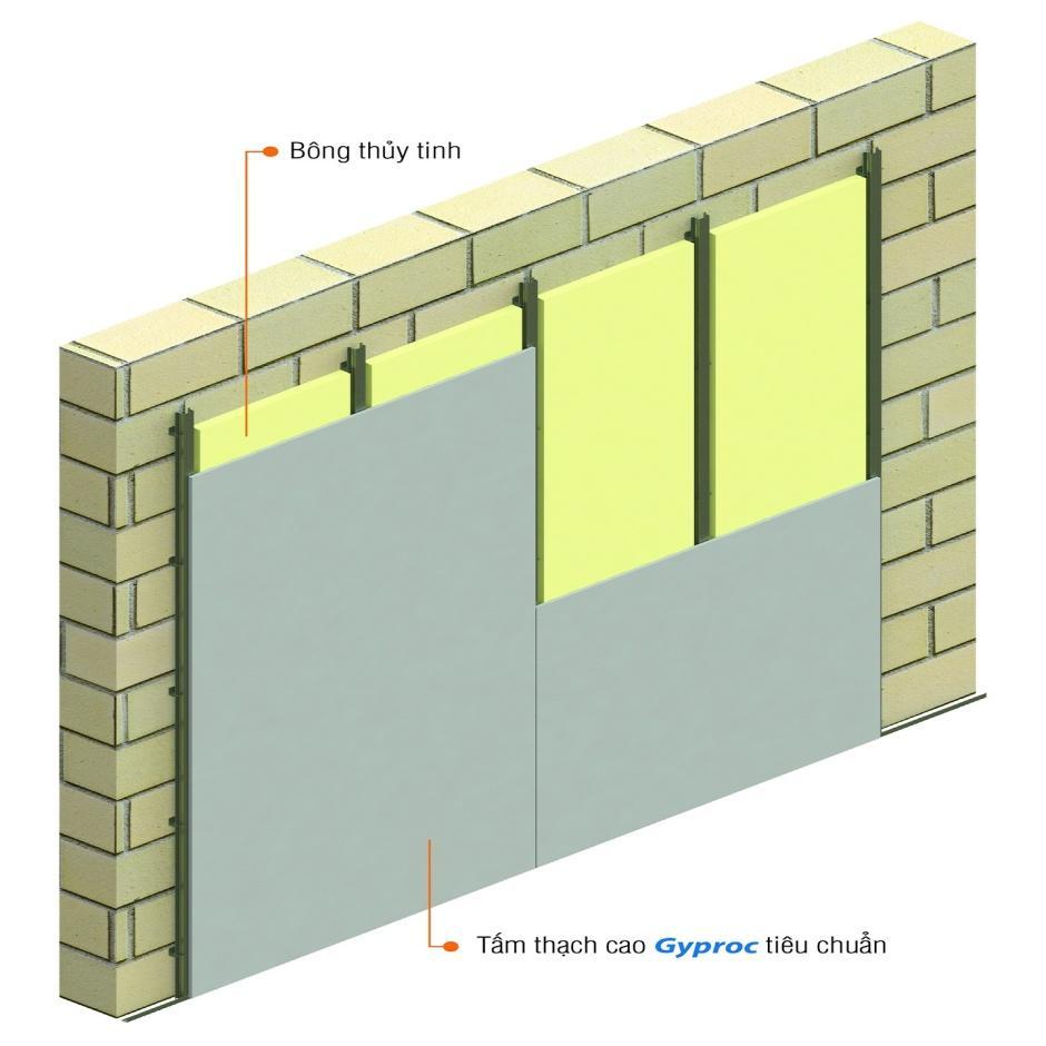 Dùng trần thạch cao chống nóng và vách thạch cao là phương án giải nhiệt tốt