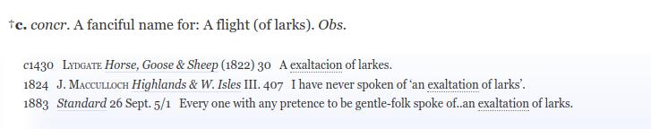 Exaltation larks definition OED.png