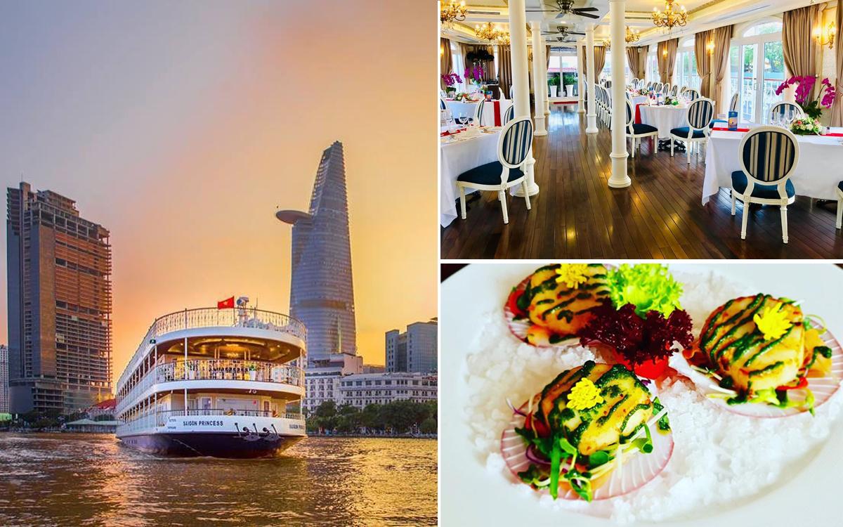 Ăn tối và ngắm cảnh đẹp trên du thuyền 5 sao SaiGon Princess