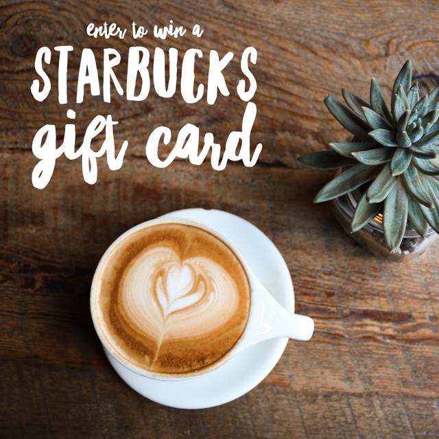 free gift cards online, 2017 gift card giveaway, free starbucks, free coffee, free food, foodie favorite, starbucks giveaway