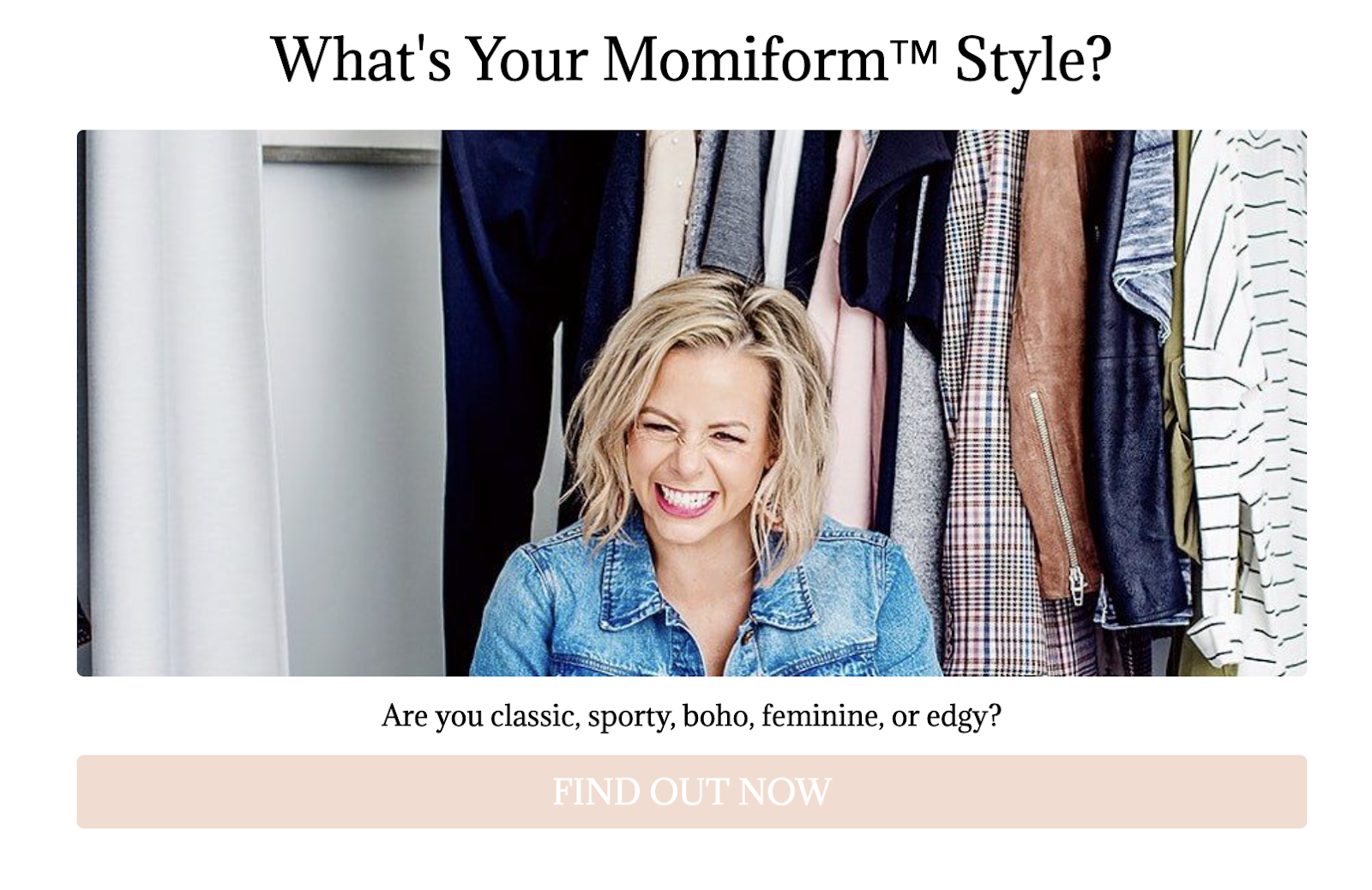 What is your momiform style quiz cover