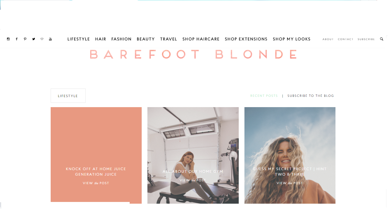 Barefoot Blonde - one of the well known beauty lifestyle blog and to be followed by everyone.