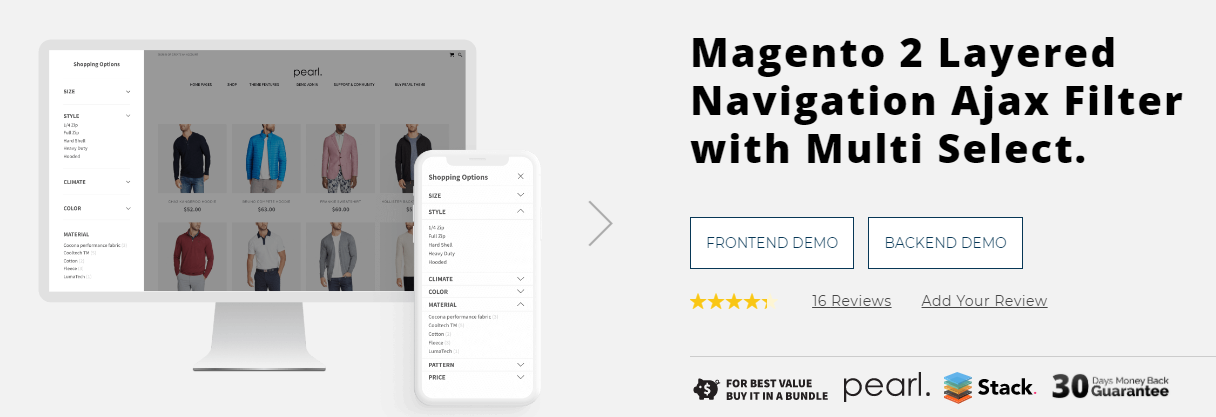 Magento 2 Layered Navigation Ajax Filter by WeltPixel