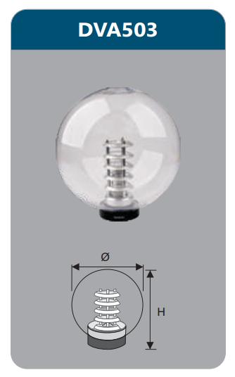 Ưu điểm của đèn led sân vườn hình cầu Duhal DVA503 3W