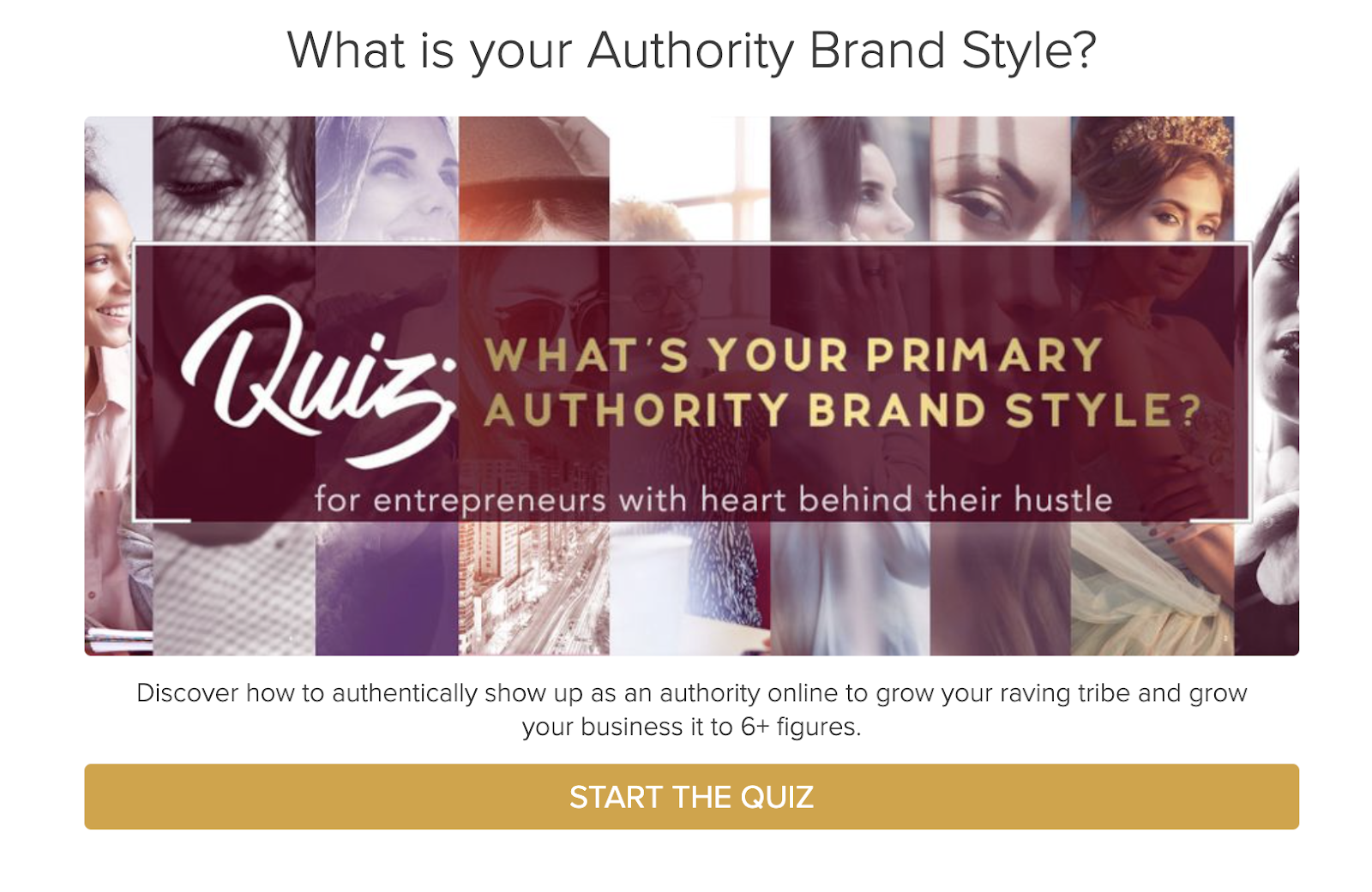 What is your authority brand style quiz cover