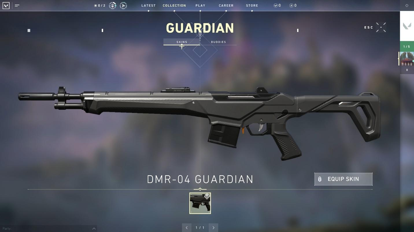 Guardian rifle top weapons in valorant