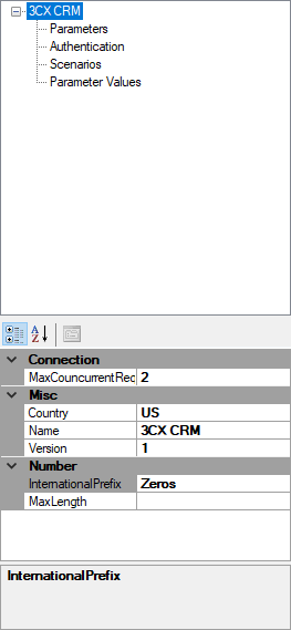 CRM integration with 3CX PBX - How to create a CRM template