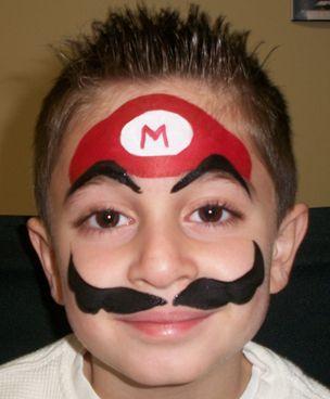 Super Mario face painting