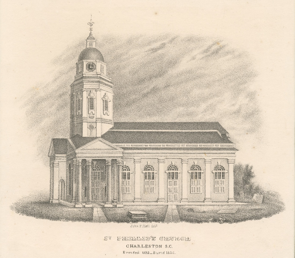 Sketch of St Philips Church