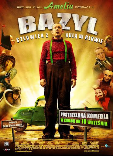 Polski plakat filmu 'Bazyl. Człowiek Z Kulą W Głowie'