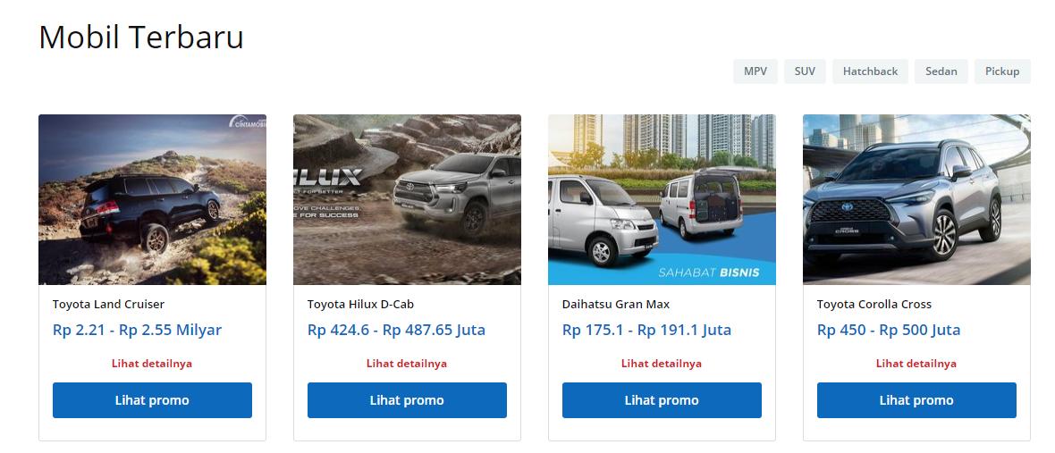 Cintamobil.com listing