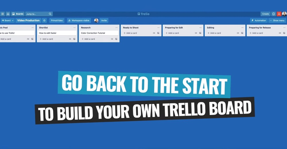 Build your own Trello board using our simple recommended process