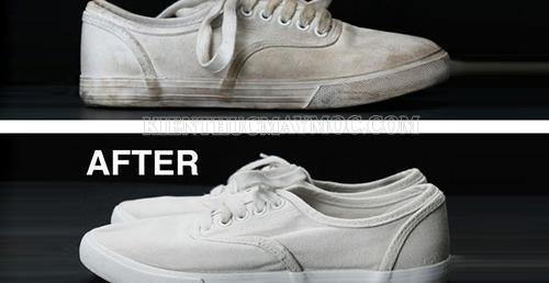 vệ sinh giày bằng baking soda