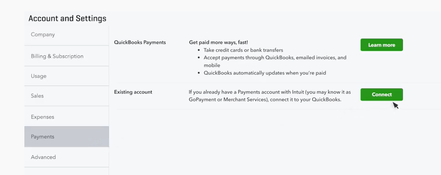 Accepting Payments Through Quickbooks 1
